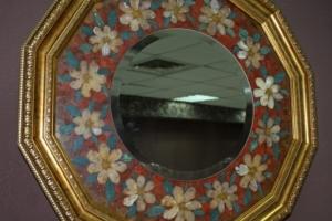 Зеркало. Цветы