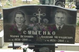 Двойной памятник из габбровского гранита